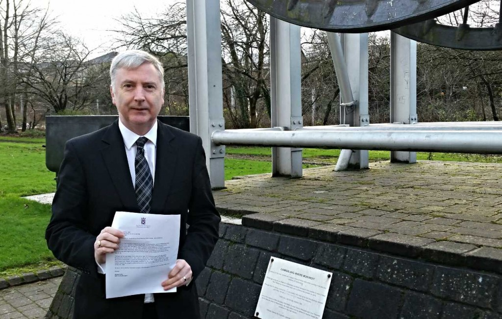 James Kelly MSP at the Mick McGahey memorial in Cambuslang.