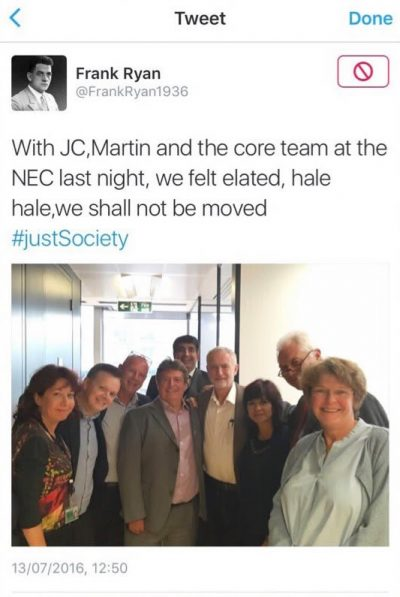 With JC,Martin and the core team at the NEC last night, we felt elated, hale hale,we shall not be moved #justSociety